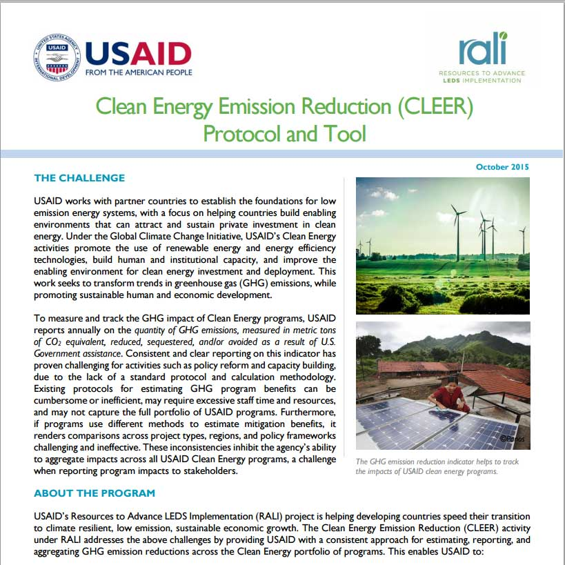 A thumbnail of the cleer factsheet